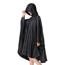 Black trench Coat fashion Style Hooded Women men unisex Raincoat Outdoor Rain Poncho Waterproof Rain Coat 3 Colors Rainwear