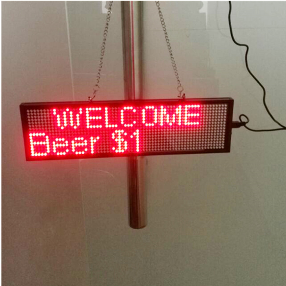 Купить с кэшбэком 34cm P5 Smd Red WiFi LED sign indoor Storefront Open Sign Programmable Scrolling Display Board- Industrial Grade Business Tools