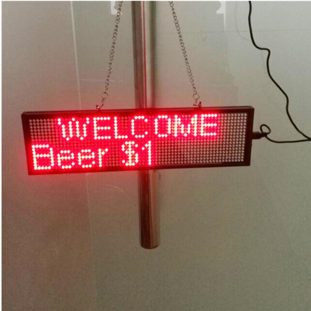 Image 5 - 34 см P5 Smd красный Wi Fi светодиодный знак для помещений, открытый знак, программируемый прокручивающийся дисплей промышленный класс, инструменты для бизнеса-in Светодиодные дисплеи from Электронные компоненты и принадлежности on AliExpress