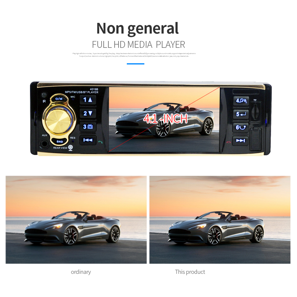 HEVXM 4019B Car Radio 1 Din 4 1 inch Autoradio Car Audio Stereo FM Radios MP5 Player Support Rear View Camera Remote Control in Car MP4 MP5 Players from Automobiles Motorcycles