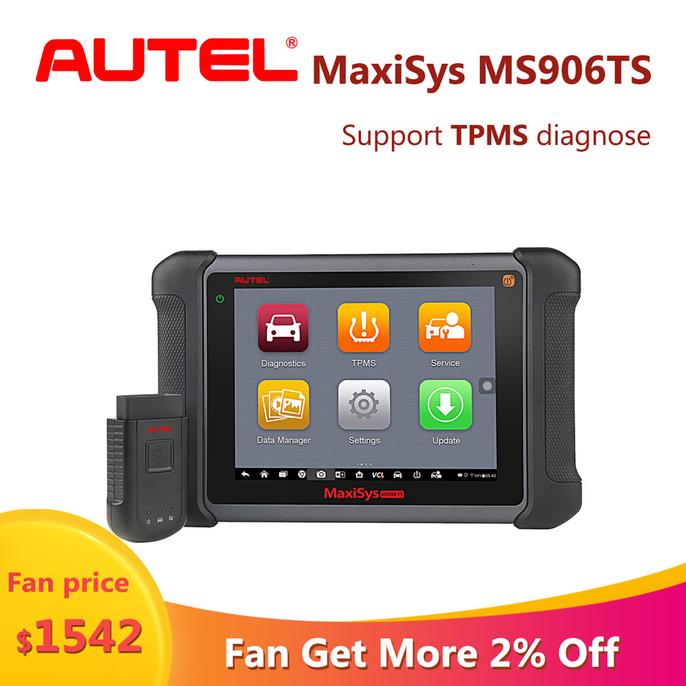 Autel maxisys MS906TS Wireless TPMS car diagnostic tool auto diagnosis scanner for car alloy analyzer tools for engine Support