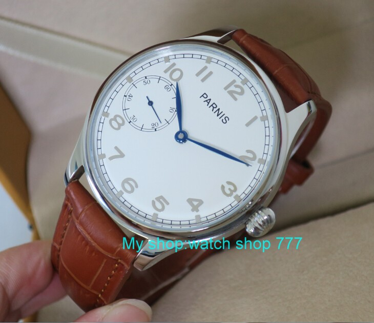 44mm PARNIS ST3600/6497 17 jewels Mechanical Hand Wind movement Mechanical watches White dial men's watches wholesale o39 parnis white dial st3600 goose neck movement hand chain mechanical men s watch wholesale