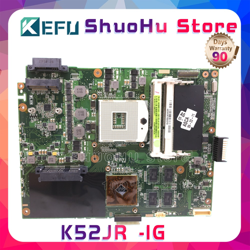SHELI X52J for A52J K52JR K52JT K52JB K52JE K52JU X52J A52J K52J 8 Memory laptop motherboard tested 100% work original mainboard for asus k52 x52j a52j k52j k52jr k52jt k52jb k52ju k52je k52d x52d a52d k52dy k52de k52dr audio usb io board interface board