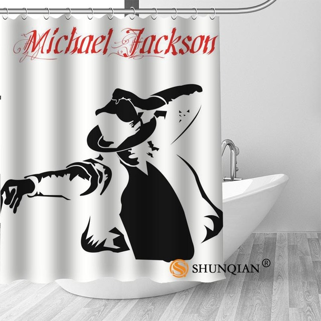 15 Michael jackson shower curtain washable thickened 5c64f7a44eda9