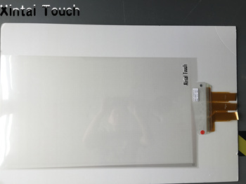 "82"" Interactive capacitive 10 point  touch screen foil film through glass, It can detect weak signal that caused by hands."