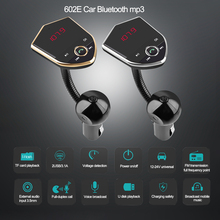 Wireless Bluetooth 602E Car Kit Handsfree FM Transmitter AUX Audio Music MP3 Player Dual USB Charger Support TF Card/U Disk 5 цена