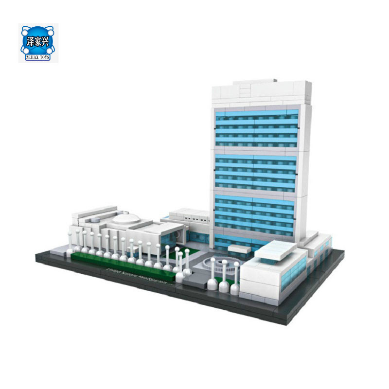 LOZ United Nations Headquarters ABS Environmental Building Blocks DIY Assembled Children Educational Toy Compatible Lepins Brick