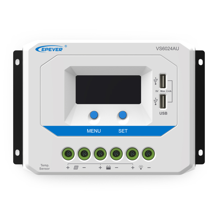 60A PWM Solar Charge Controller 12V 24V DC Auto with Informative Black Light LCDDdisplay Double 5V USB Port