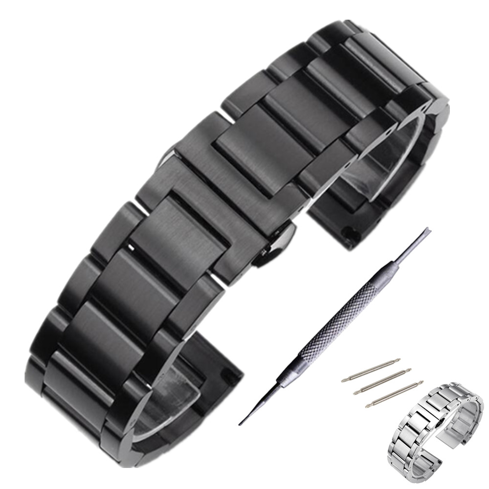 Stainless Steel Watchband Strap For Casio Seiko Citizen Watch Band Strap Wrist Bracelet 18 20 22 24 mm + Tool strap