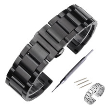 Stainless Steel Watchband Strap For Casio Seiko Citizen Watch Band Strap Wrist Bracelet 18 20 22 24 mm + Tool все цены