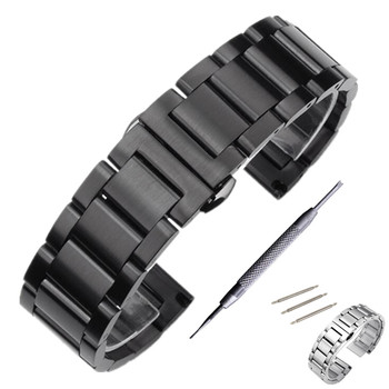 Stainless Steel Watchband Strap For Casio Seiko Citizen Watch Band Strap Wrist Bracelet 18 20 22 24 mm + Tool цена 2017