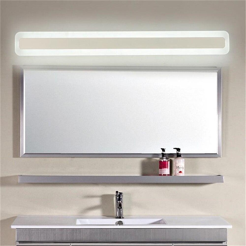 الحديثة L40/L50/L60/L70cm LED الغرور أضواء مرآة حمام الجبهة مصباح led إطار مربع بمصباح أكريليكي الرئيسية حائط الخلفية الشمعدانات