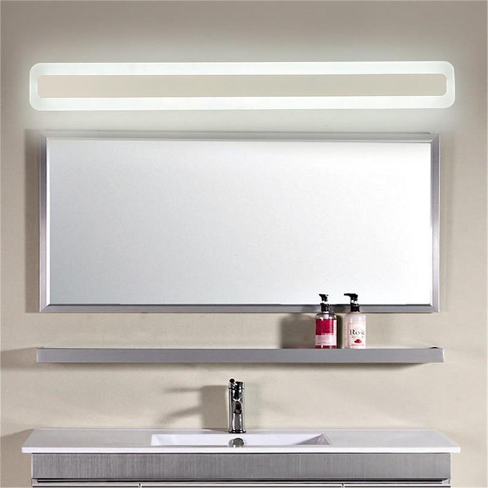 Modern L40 / L50 / L60 / L70cm levou luzes da vaidade do banheiro espelho da frente da lâmpada levou acrílico iluminação de fundo em casa parede arandelas