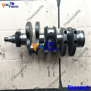 For Mitsubishi K3E Crankshaft Used Part Good Condition STD Size Fit MT18 CASE Cub Tractors Engine Spare Parts