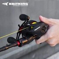 Baitcasting Spartacus Рыболовная катушка + углеродное литье рыболовная удочка комбо