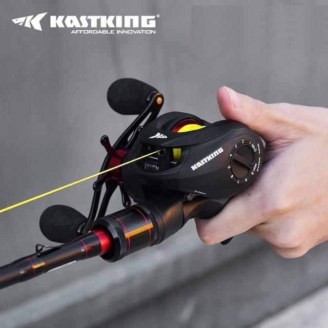 Baitcasting Spartacus Fishing Reel + Carbon Casting Fishing Rod Combo