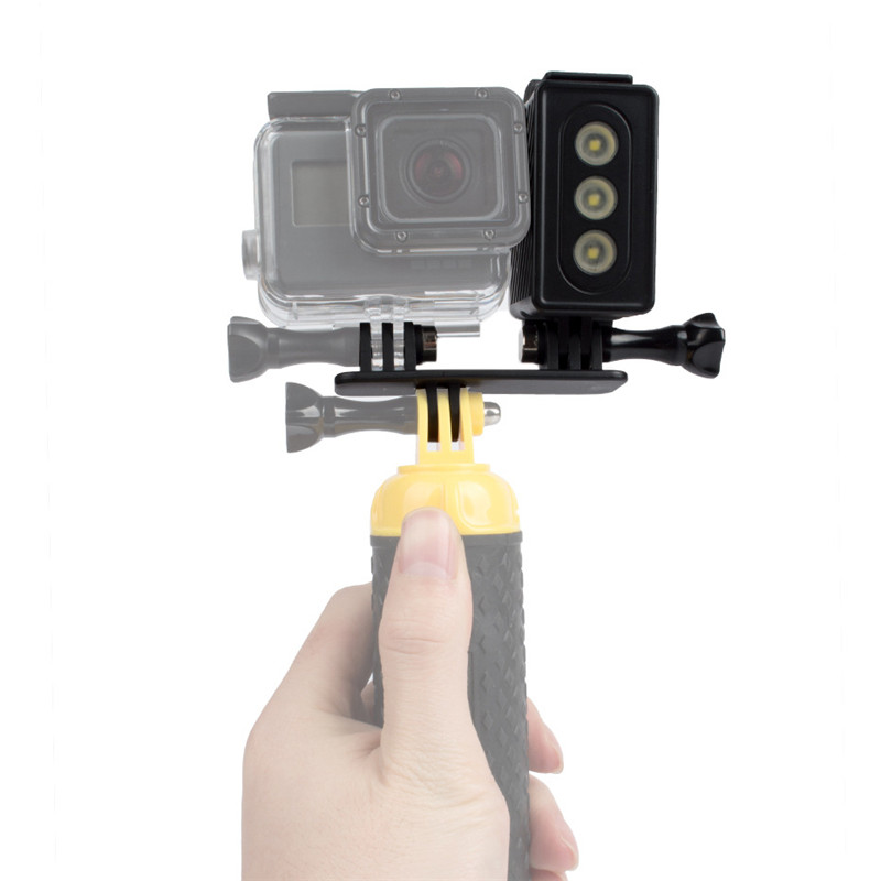 For Gopro Hero 5 4 3+ 3 Underwater Photography Diving Lights Waterproof LED Flash Light Spot Lamp for Xiaomi Yi action Camera цена