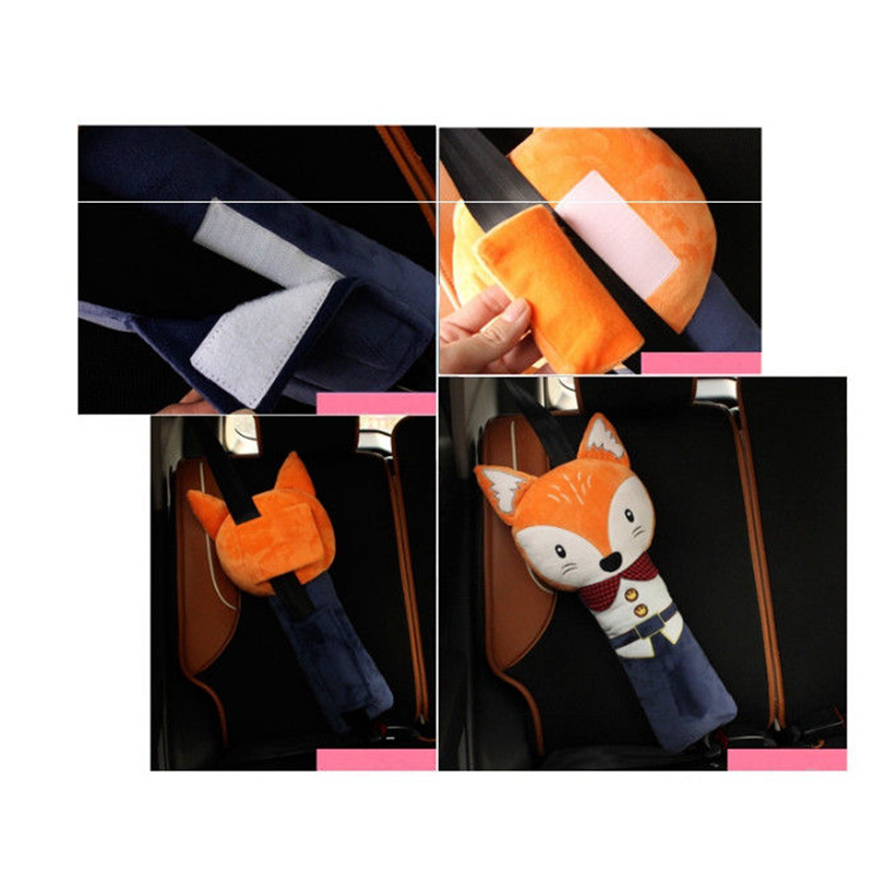 Cartoon Seatbelt Pillow Auto Seat Belt Strap Cover Car Safety Belt Cover Soft Plush Shoulder Pads Cushion for Children Kids Baby in Seat Belts Padding from Automobiles Motorcycles