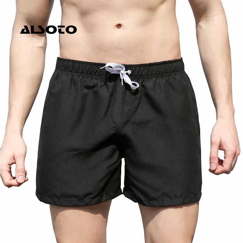 Mens Briefs Badehose Männer Strand Bademode Männer Solide Quick Dry Shorts Homosexuell Boxer Surf Board Beach Wear Maillot De bain