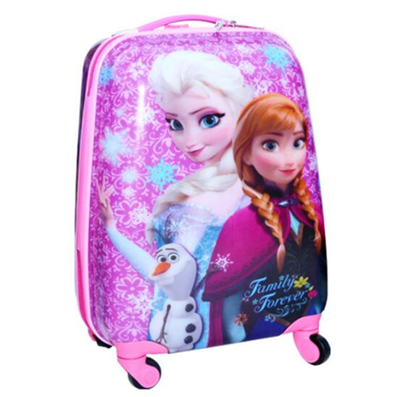 Kids Printing films Travel Luggage spiderman 3D stereo Pull rod box cartoon children box ...
