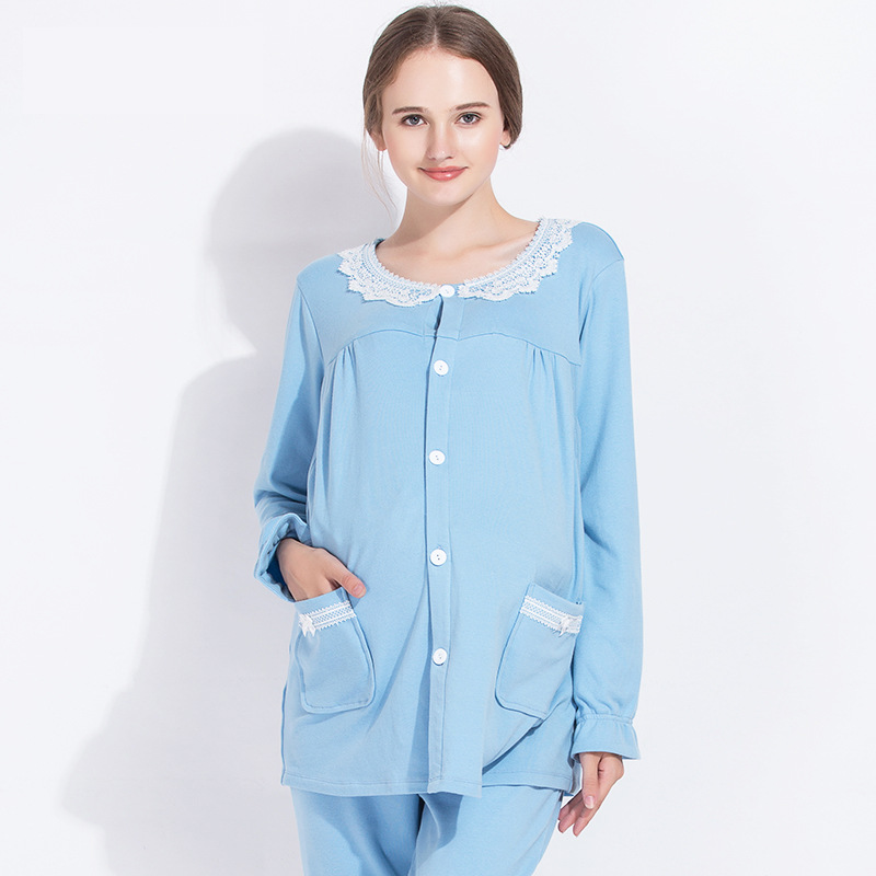 Maternity homewear nursing clothes Maternity pajamas Set pregnancy Nursing sleepwear Pajama for Pregnant Women in Autumn winter maternity pajama hot robes autumn winter pregnant woman unisex home coral fleece pajama comfortable solid pockets women bathrobe
