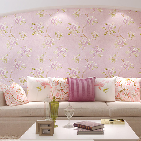 Non-woven wallpaper American country European pastoral large flower wallpaper warm living room bedroom  study background american country leaf branch flower pastoral non woven wallpaper bedroom living room 3d stereoscopic background wallpaper mural