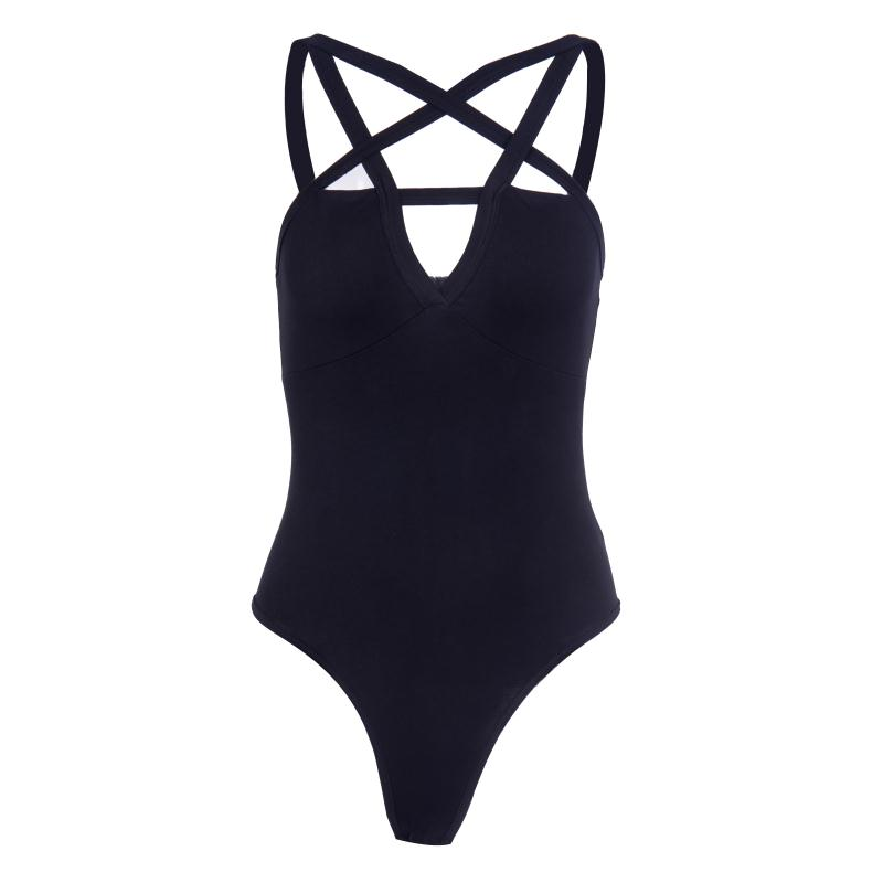 HTB13SIDXHys3KVjSZFnq6xFzpXaa - Sexy Hollow Out Star Bodycon Body Black Bodysuits Women Summer Bandage Star Gothic Darkness Body Lady Backless Casual Bodysuit