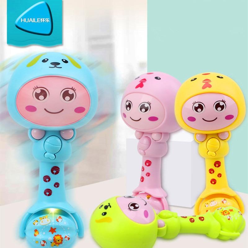 HUAILE Baby Toys Hand Bells Puzzle zenék és fényrázás Csörgők - Csecsemőjátékok