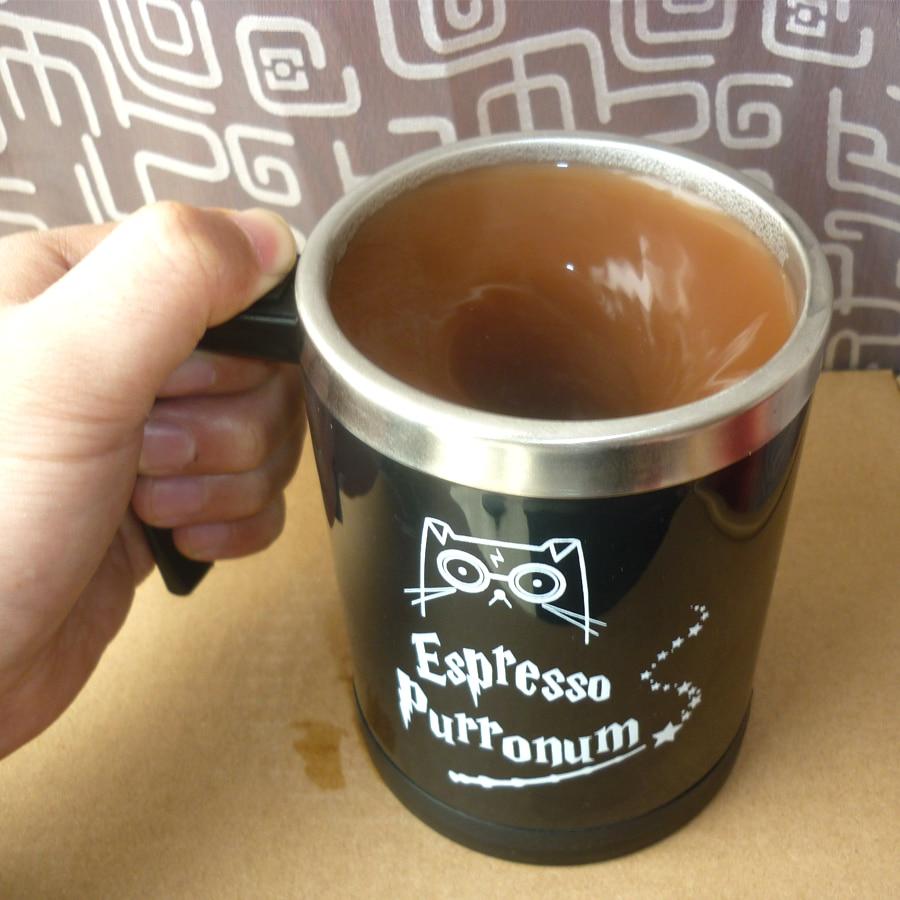 Light Magic magic HP Cat Automatic self stirring mug coffee milk Stainless Steel Cup Surprise gift