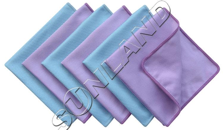 6pcs 30cmx40cm Microfiber Polishing Cleaning Towels Glass Stainless Steel Shine Cloth Window Windshield cloth