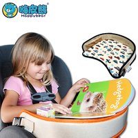 Children Portable Table For Car Baby Stroller Holder Food Desk Waterproof New Child Table Car Seat Tray Storage Kids Toy 42*35cm