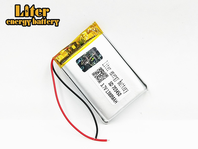Power Bank Intelligent Hohe Kapazität 703450 3,7 V 1300 Mah 073450 Polymer Lithium-ion/li-ion Batterie Für Spielzeug Gps Mp3 Mp4 Bluetooth Lautsprecher Weniger Teuer