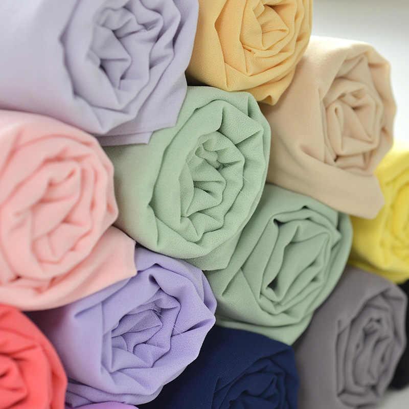 150x50cm tela de chifón perlada de color sólido, falda de verano, ropa, forro de tela, fabricación de Hanfu, ropa con forro Georgette 150 g/m