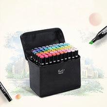 TouchLecai 30/40/60/80 цвет с двойной головкой Маркер Набор кисть для эскиза ручка для рисования комиксов анимационный дизайн товары для рукоделия арт специаль
