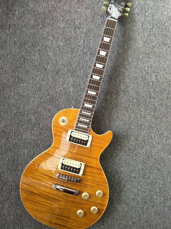 Classic 59 LP Solid mahogany Electric Guitar yellow color lp guitar free shipping стоимость