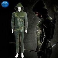 MANLUYUNXIAO Новое поступление Лидер продаж для мужчин наряд костюм Зеленой Стрелы Карнавальная вечерние для взрослых косплэй костюм Заводская