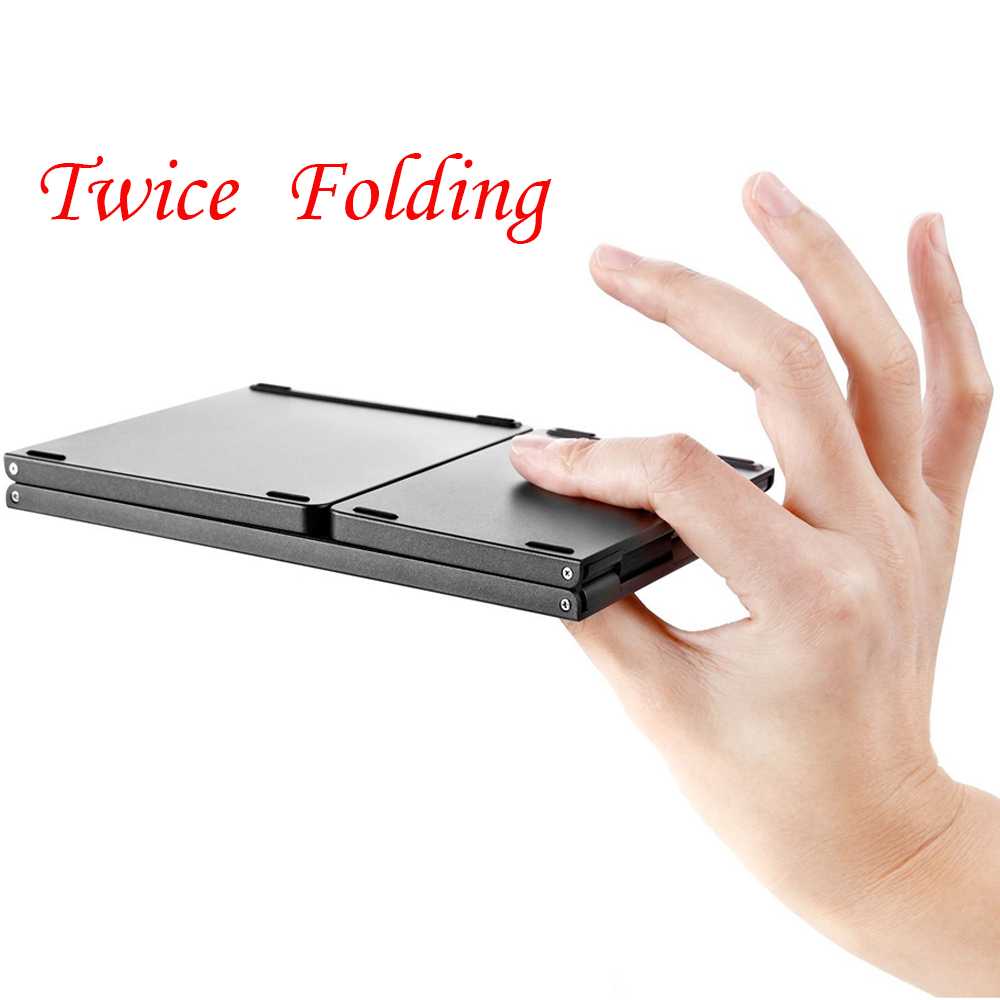 Twice Folding Bluetooth Keyboard BT Wireless Foldable Touchpad Keypad for IOS/Android/Windows ipad Tablet 12storeez костюм свитер и брюки на завязках кофейный fw18
