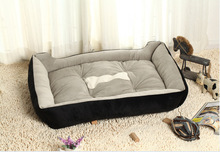 Large Dog Lounger Bed Kennel Mat Soft Fiber luxury cat bed for large small medium dog cat bed house Product For Dog Cat nest XXL