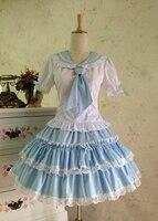 Free Shipping Summer Dress 2014 Cosplay Lolita Dress School Uniforms Skirt Suit Cos Girl Sailor Uniforms