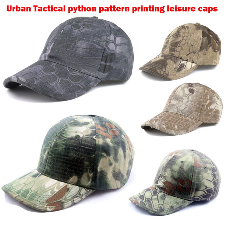 Urban Tactical python pattern printing leisure caps TYPHON MANDRAKE HIGHLANDE NOMAD Baseball Cap Hunting Hat Kryptek camo unique digital pattern embellished baseball hat