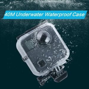 Image 1 - 40 M مثبت مضاد للماء حالة الباب الخلفي ل Gopro الانصهار 360 كاميرا تحت الماء مربع ل الذهاب برو الانصهار عمل كاميرا الملحقات