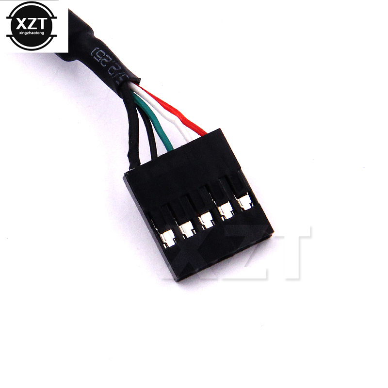 Computer & Office Hot Sale 5pins Female To Usb A 2.0 Female Extension Cable Panel Mount Screw Ear Holes Baffle Line Connector 2.54mm