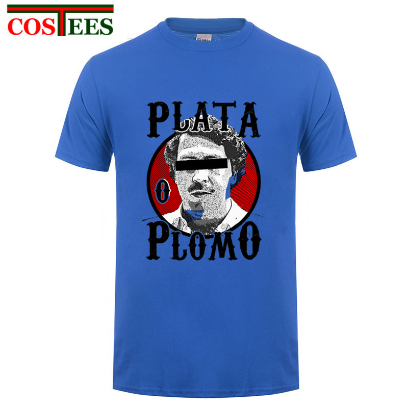 2017 Print Pablo Escobar T shirt For Men Brand Funny Man Tshirt White