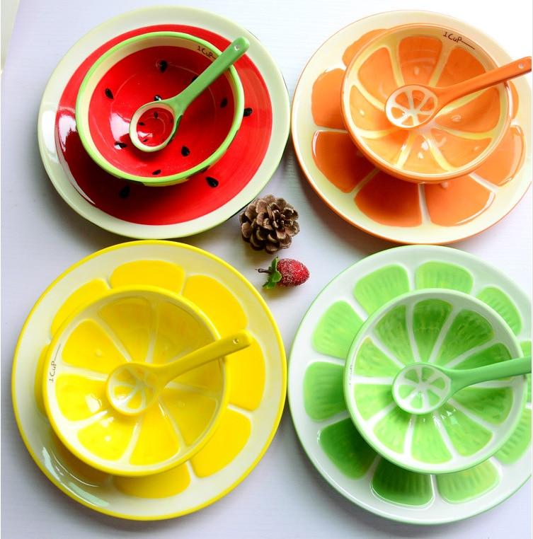 Japanese Style Cute Cartoon Hand Painted Watermelon Lemon