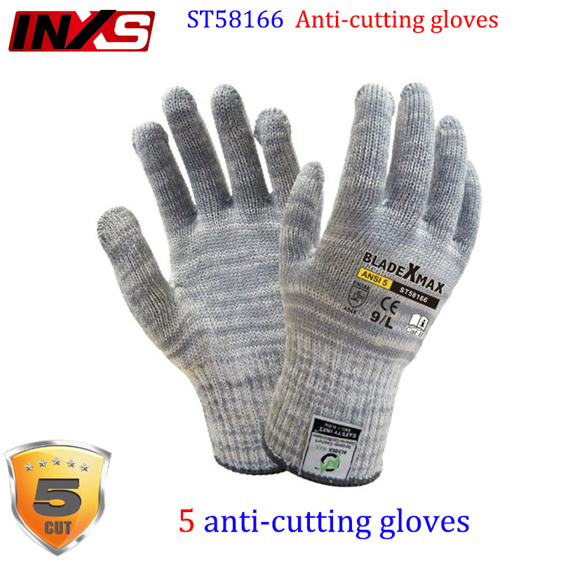 SAFETY-INXS ST58166 high risk Anti-cutting gloves Level 5 cut Tear resistant anti cut gloves Risk operation safety glove