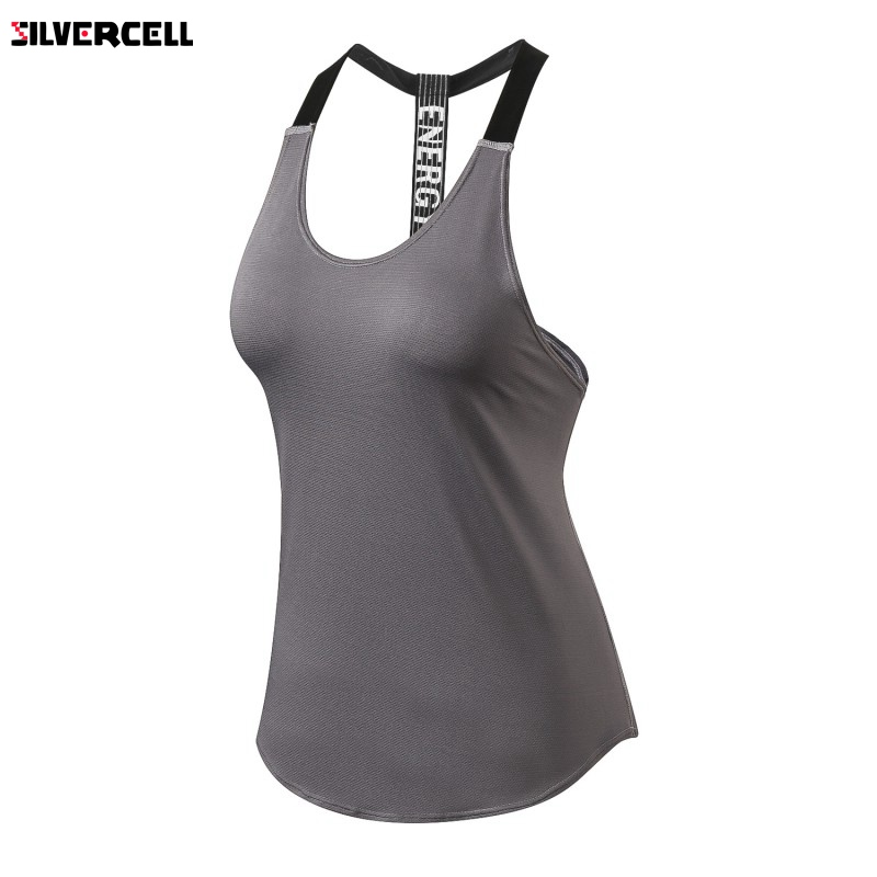 Summer Casual Tank Tops Women Fitness Vest Quick Dry Breathable Sleeveless Shirts High Elastic Women Vest