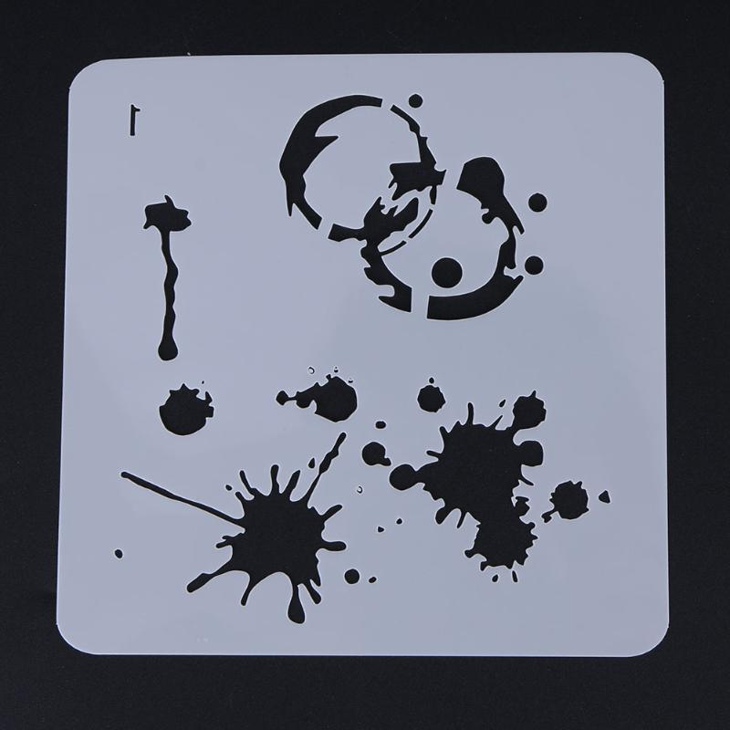 New DIY Craft Hollow Template Graffiti Plastic Stencils Scrapbooking Stamp Painting Stamps Album Decorative Embossing Paper Card