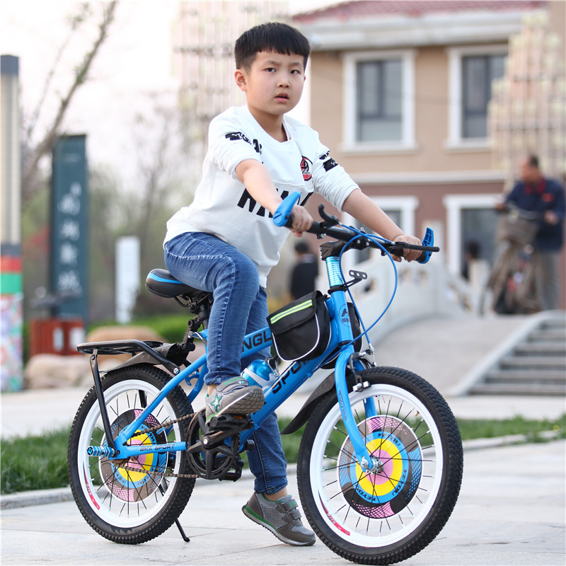 2017 New 18.20.22Inches Children Bicycles Steel  Aluminium Frame Mountain Bike Skid Pedal Hydraulic Disc Brakes Children Bicycle