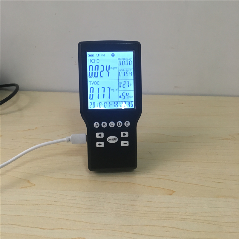 Portable indoor gas detector TVOC HCHO air quality Alarm