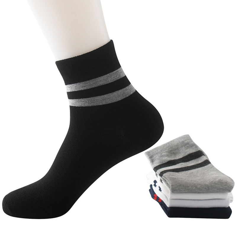 5 Pairs Mens Socks Calcetines Summer Autumn Spring Socks Comfortable Striped Cotton Compression Sock Male Man Short Ankle Meias
